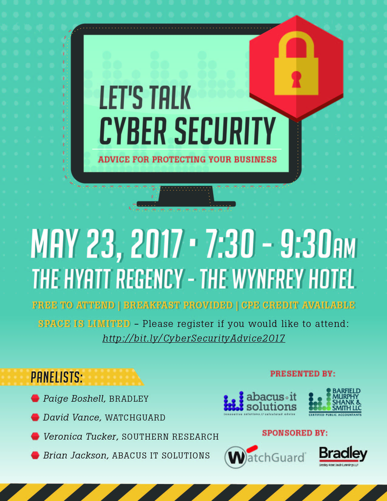 Cyber Security Event Flyer