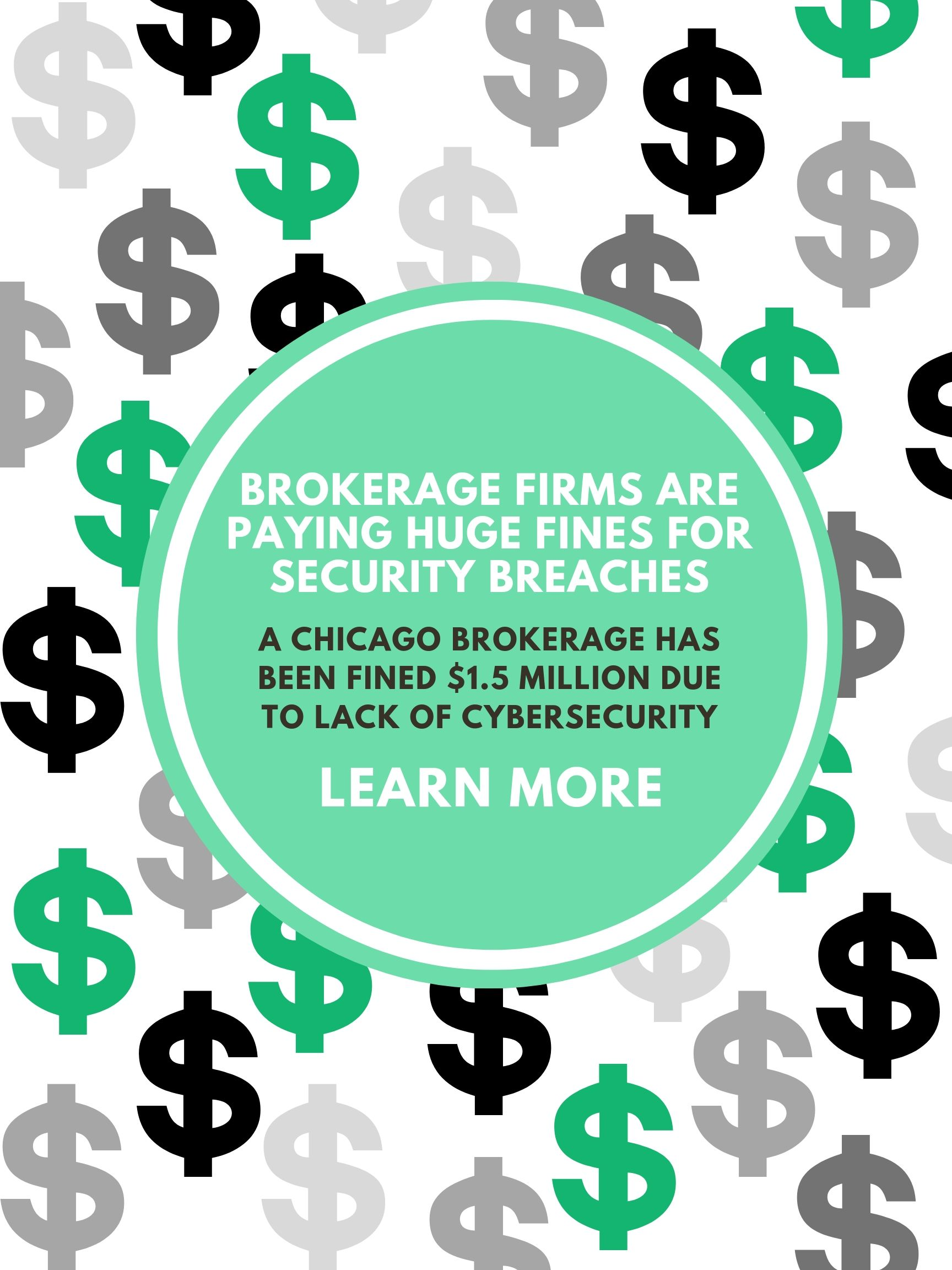 cybercime cybercriminals lack of cybersecurity Chicago brokerage will pay a $1.5 million fine