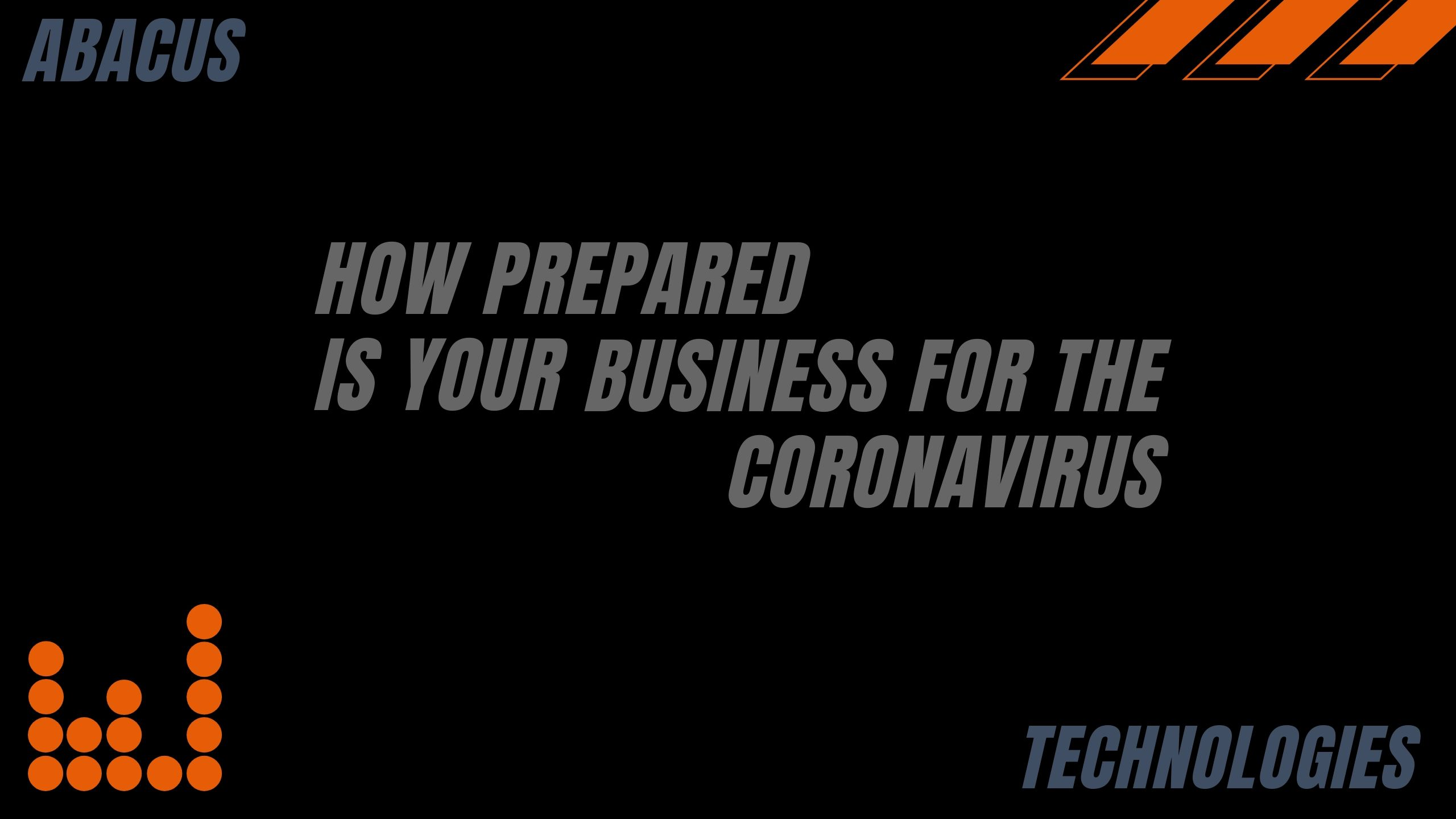 How Prepared is Your Business for Coronavirus?